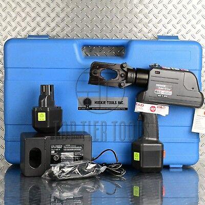Huskie Rec-458u Cordless 6 Ton Hydraulic Crimping Tool W-die -demo Tool
