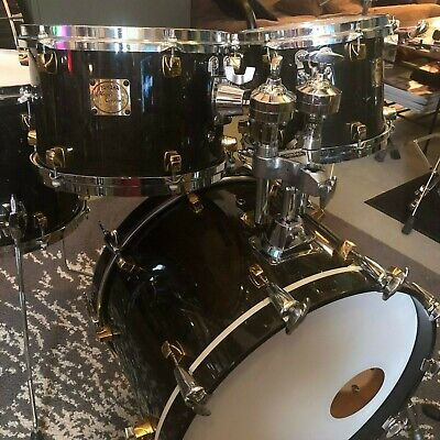 Yamaha Maple Custom Drums | Early '90s | Black Lacquer | New Bearing Edges