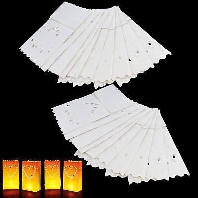 20 x Candle Tealight Bags Paper Light Luminary Lantern Wedding Garden Party (Paper Bag Luminary)