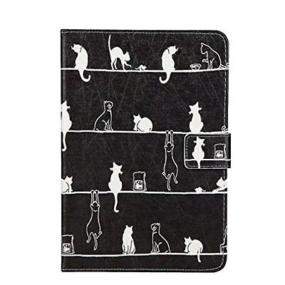 ipad mini case notebook-type cover stand cat leather tablet