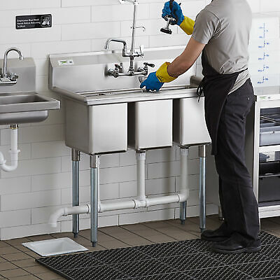 39 3-compartment Stainless Steel Commercial Nsf Pot Sink Without Drainboards