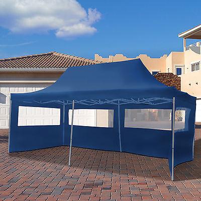 3x6m Faltpavillon Pavillon Klappzelt Gartenzelt Festzelt Partyzelt Faltzelt blau