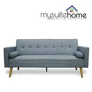 SYD NEW AMY CLICK CLACK SOFA BED FABRIC, LIGHT BLUE OR GREY SYD Sydney City Inner Sydney Preview