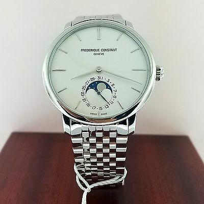 FREDERIQUE CONSTANT SLIMLINE MOONPHASE MENS WATCH FC-705S4S6B NEW!!!! $3,795