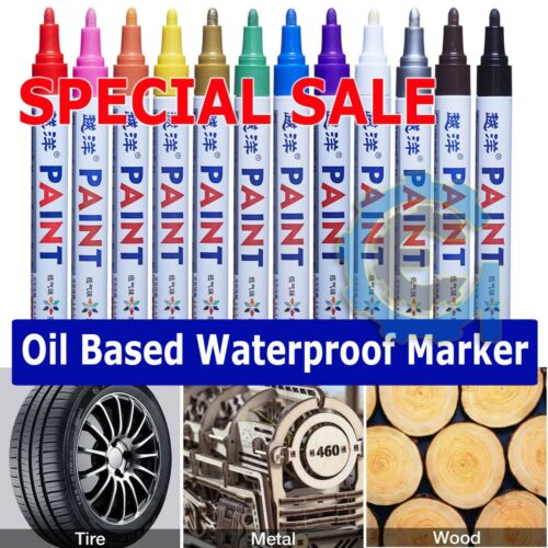 Waterproof Permanent Paint Marker Pen for Car Tyre Tire Tread Rubber Metal lot