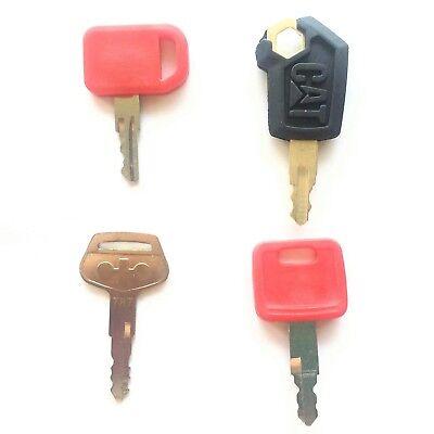 Heavy Equipment Key Set 4 Keys Cat John Deere Komatsu Ships Free