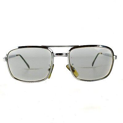 Cottet Eyeglasses 58-18 135 Chrome Silver Hip-Hop RDMC Square France Vintage