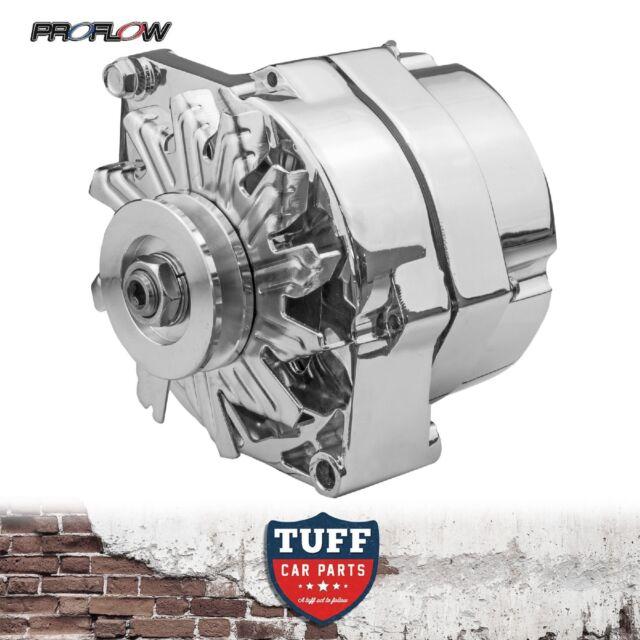 GM Small Block Chev V8 Proflow Alternator 140 Amp Chrome Plated Internal Reg New
