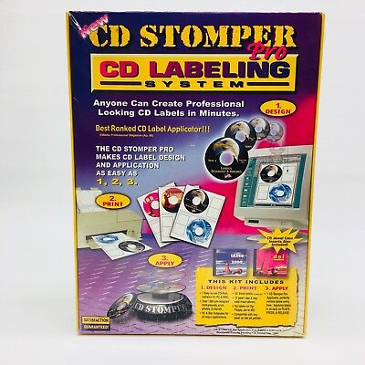 New - Cd Stomper Pro Cd Labeling System