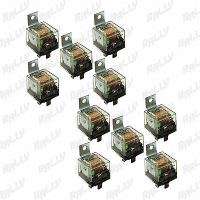529 NEW RELAY 5 PIN 100 AMP 12V CAR AUTOMOTIVE TRUCK ALARM BULB SET 10 TEN PCS