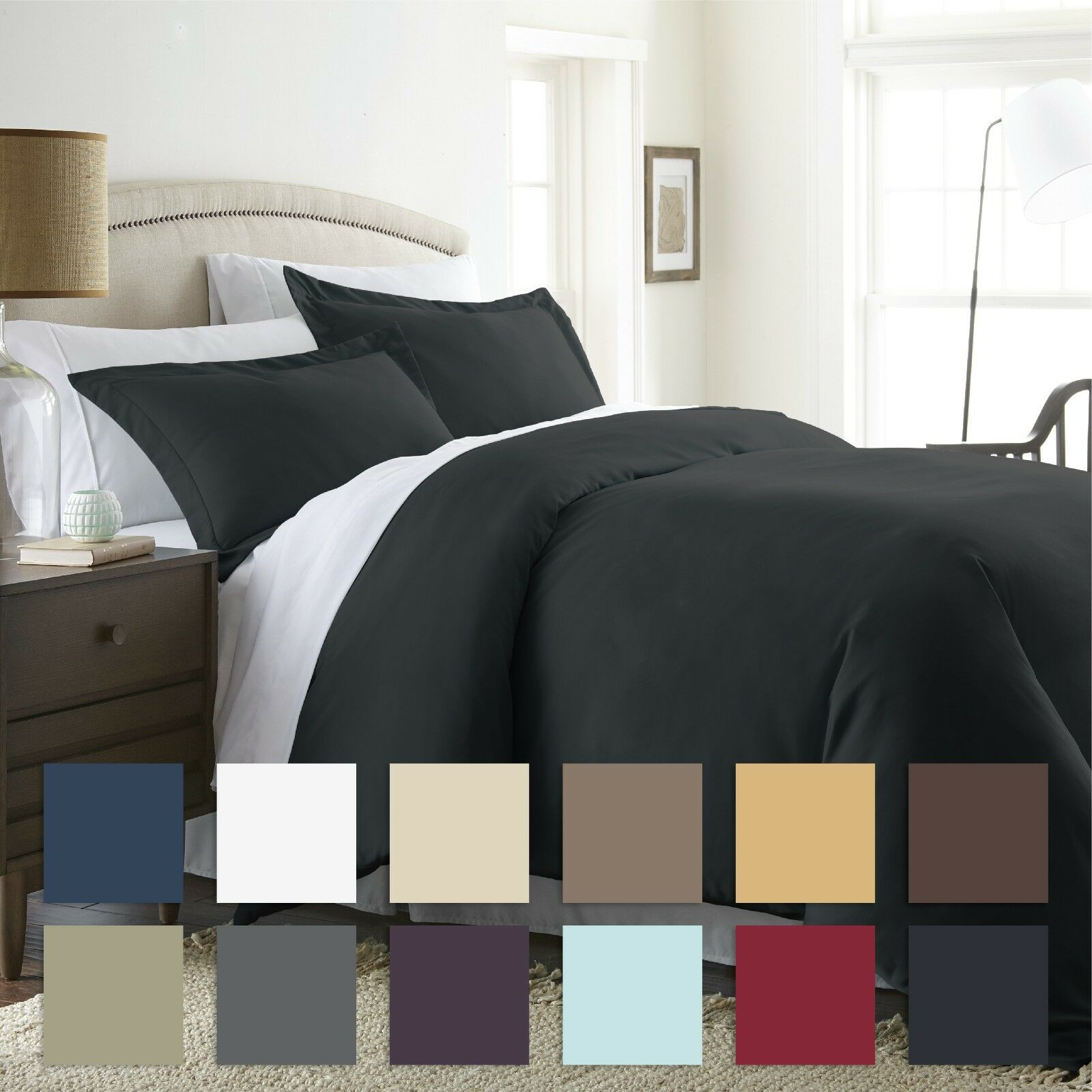 3 Piece Premium Duvet Cover Set Ultra Soft By The Home Collection