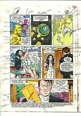 MISTER MIRACLE 14  PAGE 22 COLOR GUIDE-ORIGINAL ART-1 OF A KIND-MOENCH