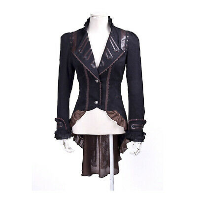 Adult Women's Victorian Steampunk Pirate Halloween Costume Ruffle Coat S-3X - Pirate Coat For Women