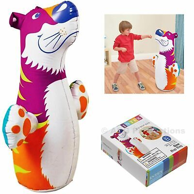 Blow Up Punching Bags (INTEX 3D Bop Bag Pink Tiger - Inflatable Blow Up Punching Bag Toy Gift  Kids)