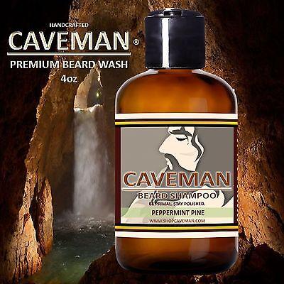 Handcrafted Caveman® Beard Wash Shampoo (Peppermint Pine)