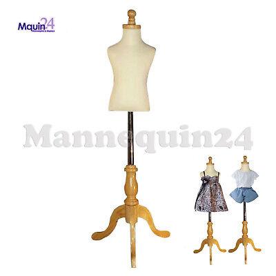 Kids Mannequin 1-2 Yrs Child Dress Form Wooden Base