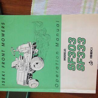 Iseki front mower workshop manual Emerald Cardinia Area Preview