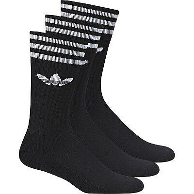 Adidas Solid Crew Sock Socken Herren 3er Pack schwarz weiss 92741