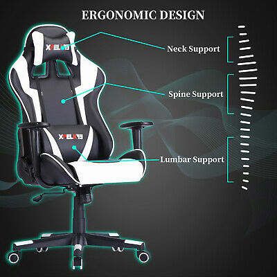 Ergonomic Office Chair Computer Gaming Chair Recliner Racing High-back Swivel