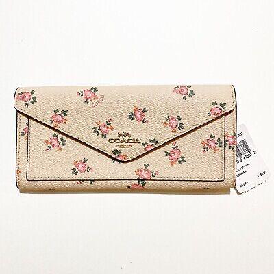 Coach Beechwood Floral Bloom Print Soft Envelope Wallet 27280