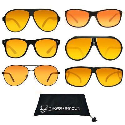 HD VISION BLUE BLOCKER Sunglasses Aviator Driving Golf Motorcycle Sport Glasses](Blue Sunglasses)