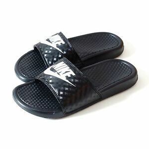 Model Nike Benassi JDI Print Women US 10 Black Slides Sandal Pre Owned 1422