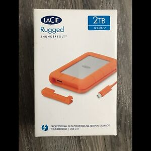 Lacie 2TB Rugged Thunderbolt Hard Drive *New In Box*