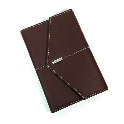 Rolodex Business Card Holder Padfolio Brown Organizer
