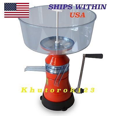 Milk Cream Separator 80lh Manual Metalplastic Model 07. Free Usa Shipping
