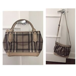 Burberry Smoked Check Tote and Cross Body