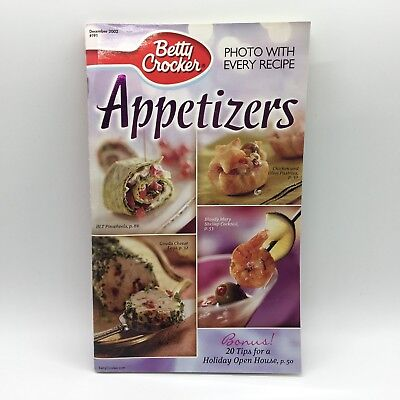 Halloween Food Appetizers (Betty Crocker Appetizers Recipe Booklet December 2002 Photo with Every Recipe)