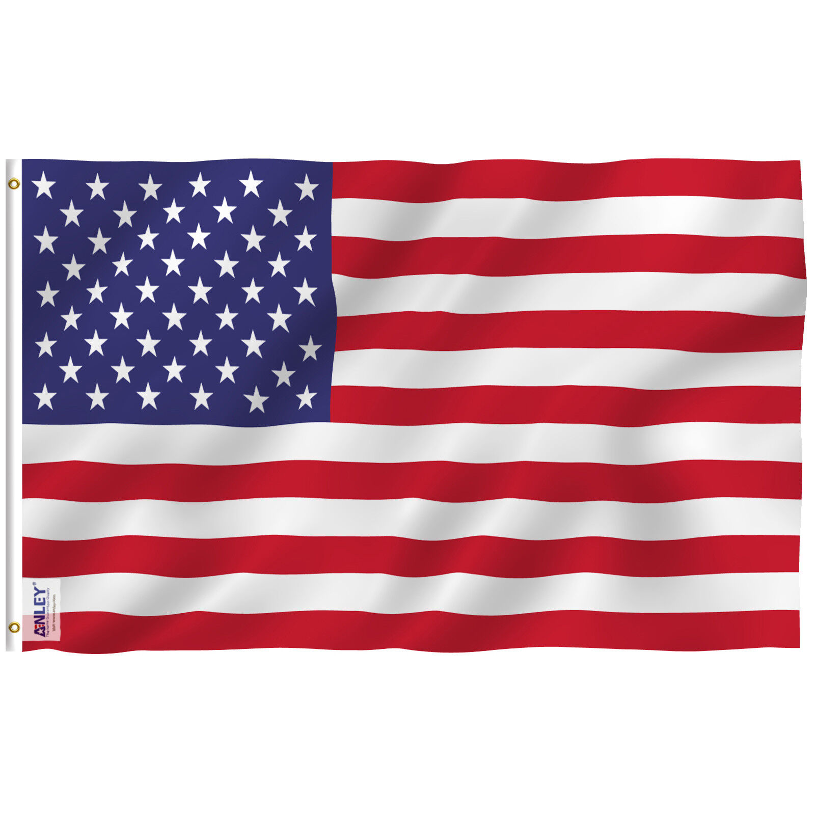 Anley Fly Breeze 3x5 Foot American US Polyester Flag USA Fla