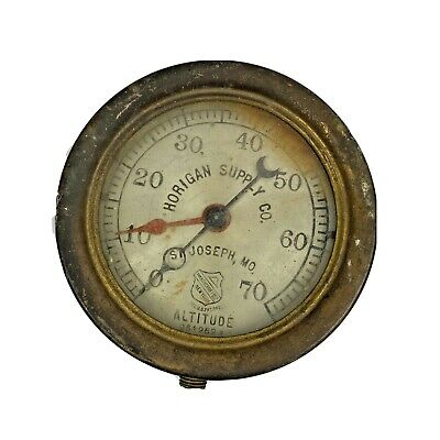 Antique The Ashcroft Mfg Co. New York 6 Brass Faced Pressure Gage Steampunk
