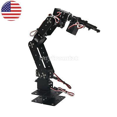 Aluminium Robot 6 Dof Arm Mechanical Robotic Arm Clamp Claw Mount Kit Us-a