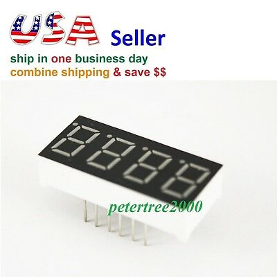 4 Digit Red 7 Segment Led Display Digital Tube Common Anode 12 Pins For Arduino