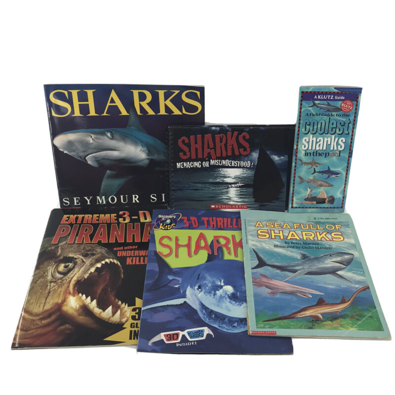 Non-fiction Kids Books About Sharks RL 4 Set of 6 Pre-owned Paperbacks -SN