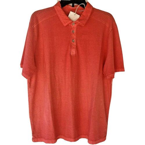 Tommy Bahama Mens Cirrus Coast Polo Shirt S/S Large Beach Golf Mandalay Red Casual Button-Down Shirts
