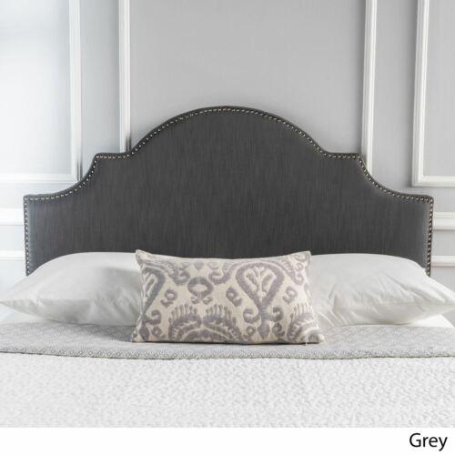 Gwenyth Gray Fabric Queen/Full Headboard Beds & Mattresses