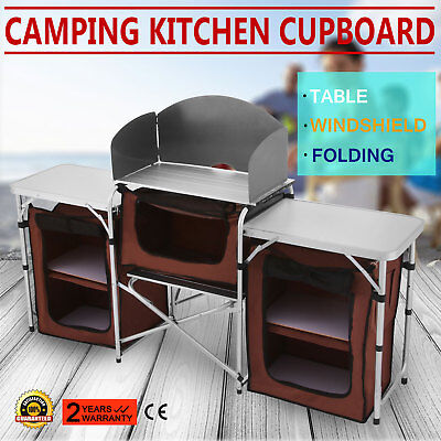 Camping Kitchen Table Cooking Working Dining Picnic Table Desk Hiking Outdoor RV