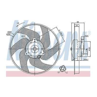 Genuine Nissens Engine Cooling Radiator Fan - 85666