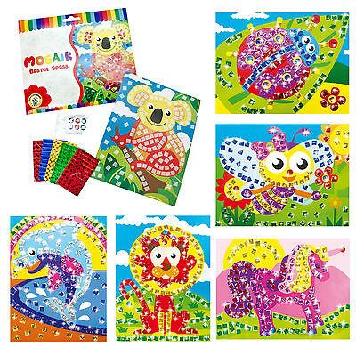Mosaik Bastelset Kreativset Bastelspaß für Kinder verschiedene Sets zur Auswahl ()
