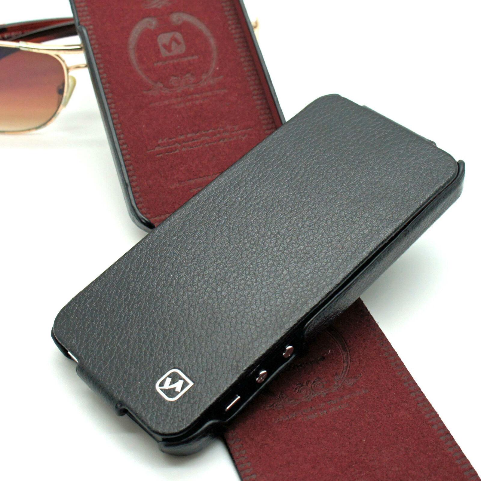 f5c4a92ef81f HOCO GENUINE PREMIUM LEATHER DESIGNER FLIP CASE FOR APPLE IPHONE 5 5S   SE