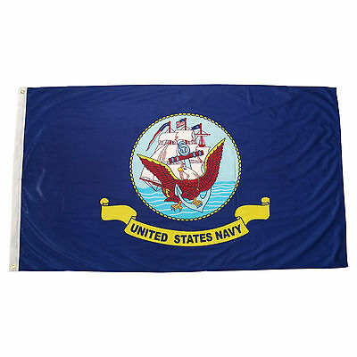 3x5 ft United States NAVY Official Military Insignia Logo Flag Print Polyester