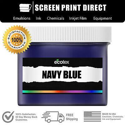 Ecotex Navy Blue - Premium Plastisol Ink For Screen Printing - 8oz