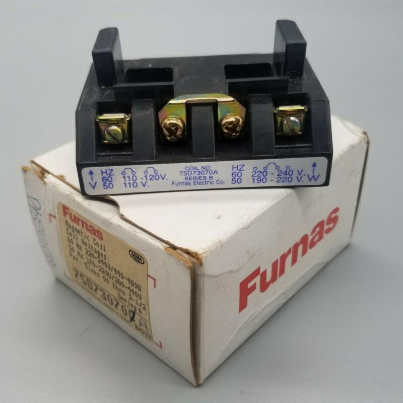 Furnas 75D73070A Contactor Coil NEMA Size 00-2 Dual Voltage 120-208-240 VAC NIB
