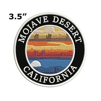 Mojave Desert California Moon Embroidered Patch Iron-On / Sew-On Applique