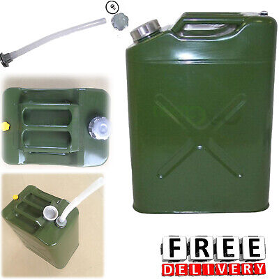 Fuel Gas Tank 5 Gallon Gasoline Steel Jerry Diesel Can Emergency Container
