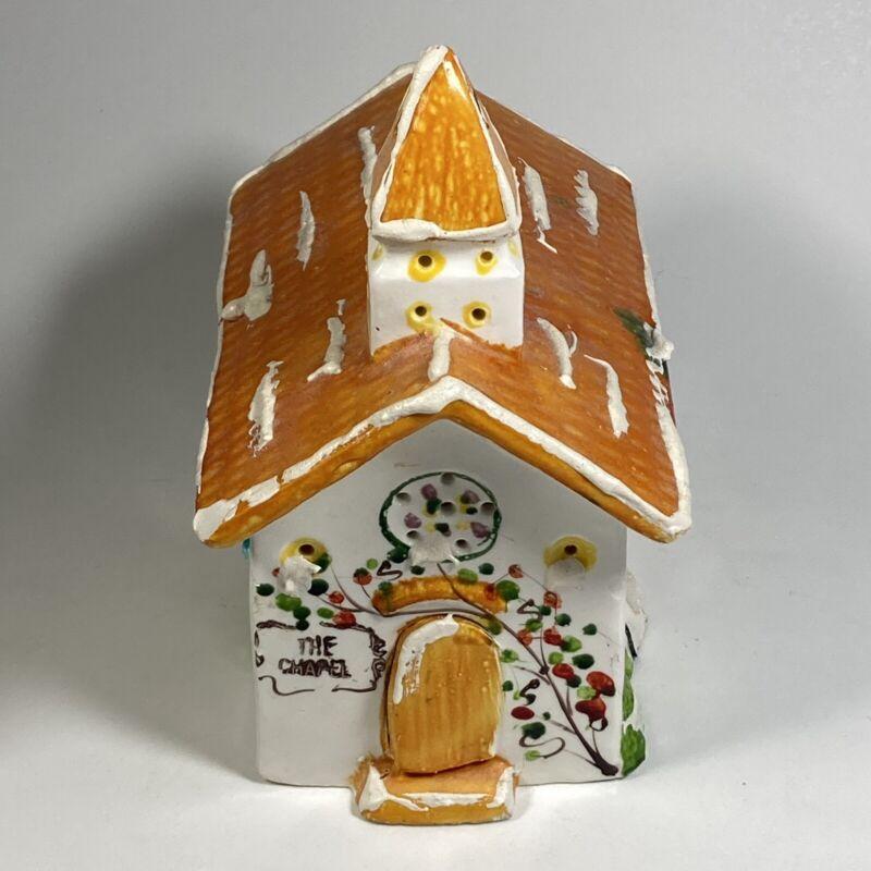 Vtg 1976 Dept 56 Snow Village Wayside Chapel Lighted Church READ