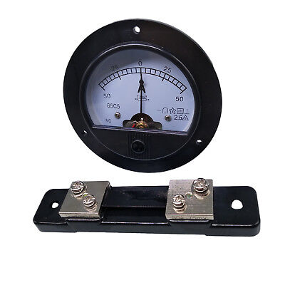Us Stock Dc -50a 50a Analog Amp Current Needle Panel Meter Ammeter Shunt