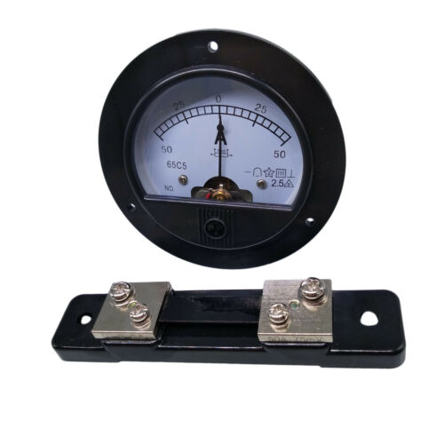 US Stock DC -50A ~ +50A Analog AMP Current Needle Panel Meter Ammeter & Shunt